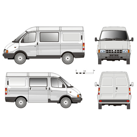 wraps: Entrega vector Van GAZ -2752
