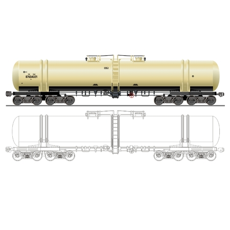 vector oilgasoline tanker car 15-871 Vector