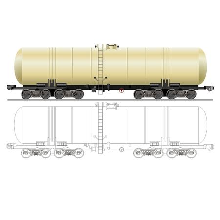 vector olie / benzine tanker auto 15-880 Vector Illustratie