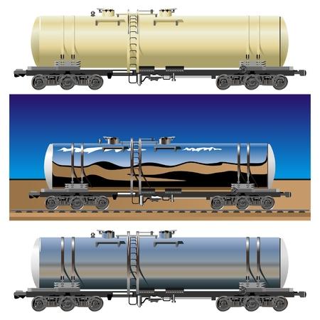 railings: vector oil  gasoline tanker cars 15c865 set