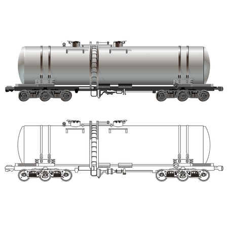 Vector Oil  gasoline tanker car Vector