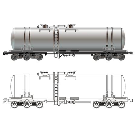 oil tanker: Vector Oil  gasoline tanker car