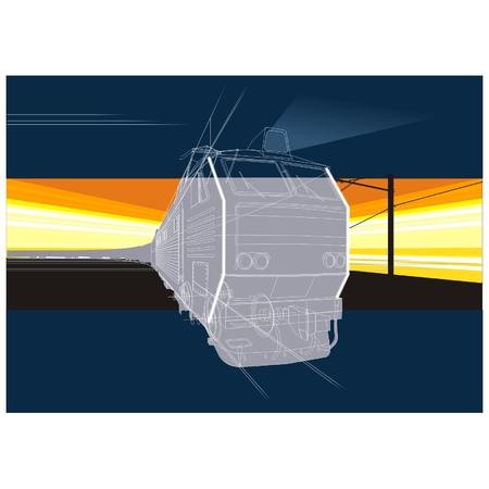 vector railway background Stock Vector - 4260161