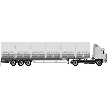 Vector cargo semi-truck Vector