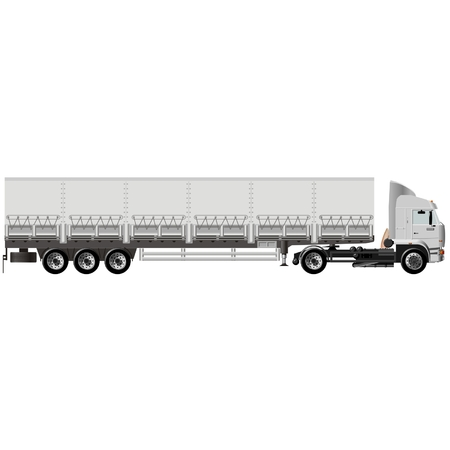 semitruck: Vector cargo semi-truck Illustration