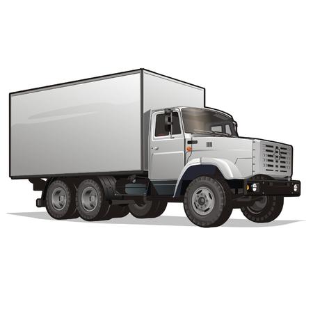 land vehicle: Vector cargo truck