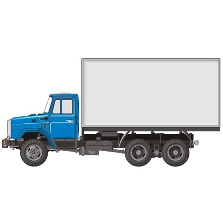 utilities: Vector Cargo Truck Illustration