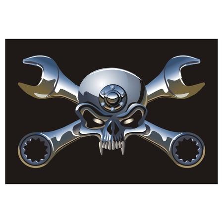 Jolly Roger vector Metall Ilustración de vector