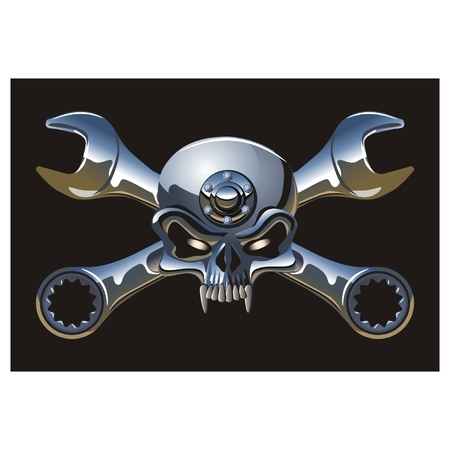 moteros: Jolly Roger vector Metall