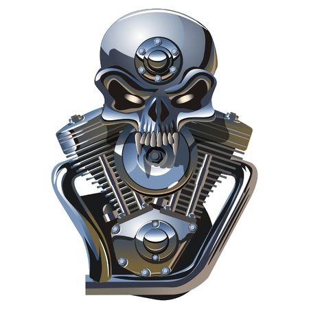 roger: Vector metall Jolly Roger Illustration
