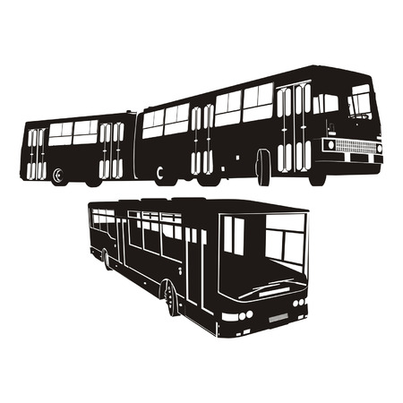 Transportation silhouettes set 4 Vector