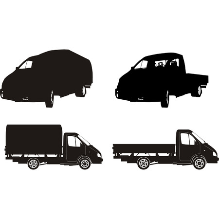 Transportation silhouettes set 8 Vector