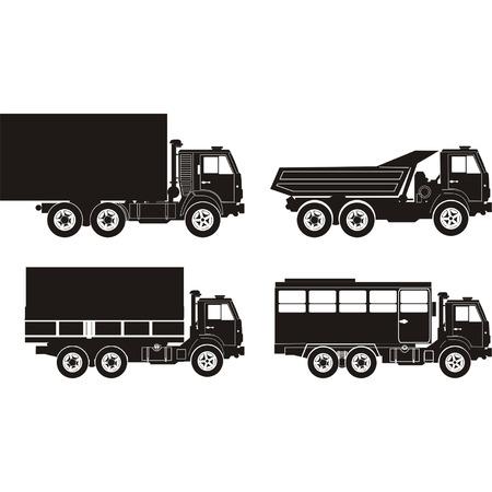 mode of transport: Transporte siluetas conjunto 7 Vectores