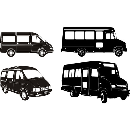 Transportation silhouettes set 1 Vector