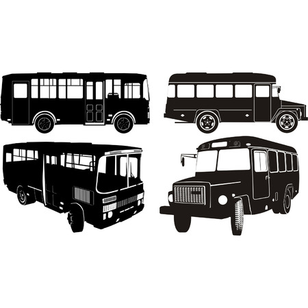 Transportation silhouettes set 2 Vector
