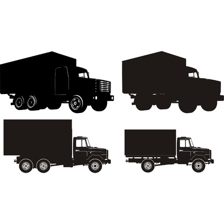 Transportation silhouettes set 5 Vector