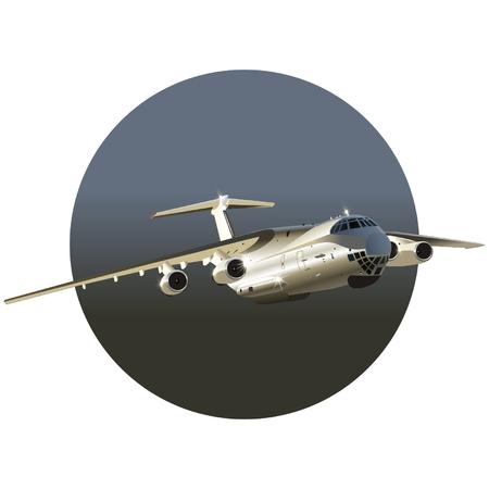 freighter: Vector cargo airplane Illustration