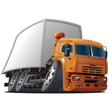 Vector cartoon delivery / cargo truck Stock Vector - 4334869