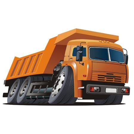 ダンプ: ベクトル漫画のダンプ トラック