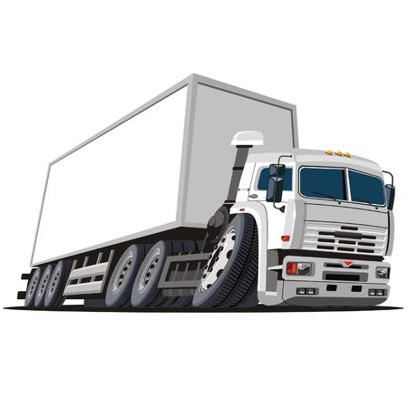 loading truck: Vector cartoon delivery  cargo truck Illustration