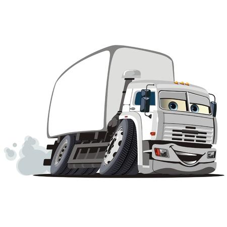 camion caricatura: Vector de entrega de dibujos animados  cami�n de carga