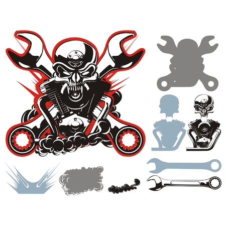 Vector bikers simbols set Vector