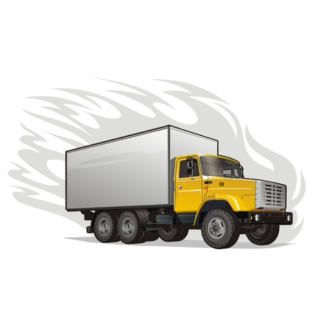 warehouse equipment: Vector heavy cargo truck Illustration