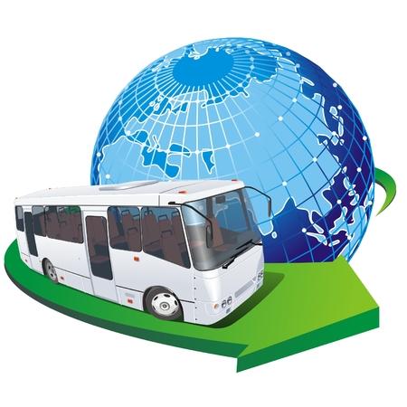 Vector bus turístico