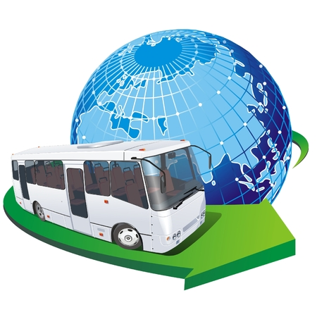 Vector tourist bus Stock Vector - 4344137