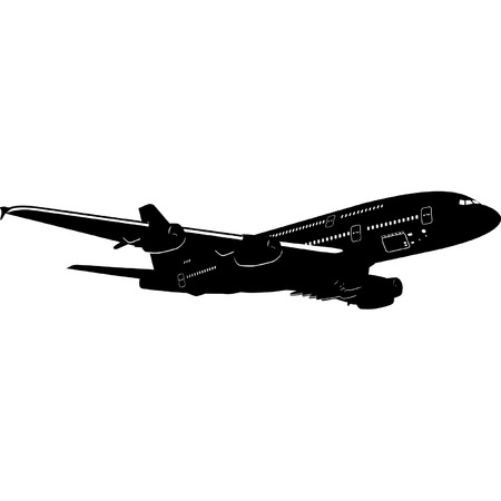aviations: A-380 Jetliner detailed silhouette