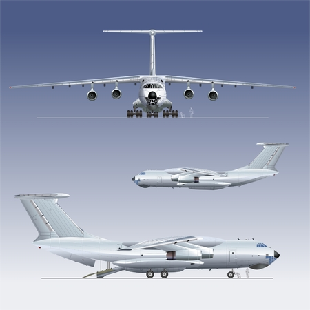commercial airplane: Vector deliverycargo airplane