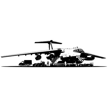 Vector airplane at runway Vector