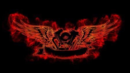 moteros: Motowings en llamas