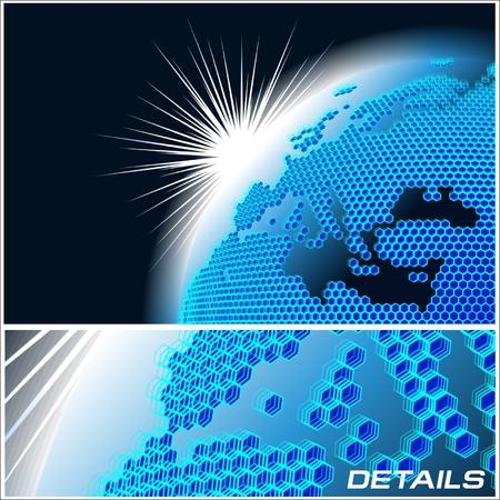 Vector cellular network theme Vector