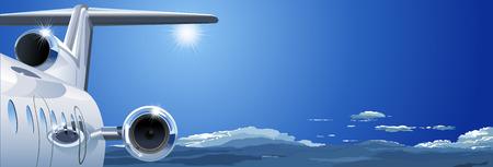 luxury travel: Vector de avi�n en el cielo Vectores