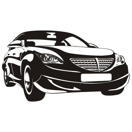 Vector abstract car isolated Stock Vector - 4628349