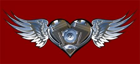 Vector Motorheart 1 Vector