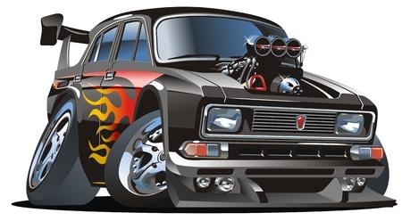 tiges: Vector cartoon retro Hotrod