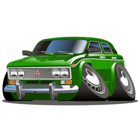drag: Vector cartoon car