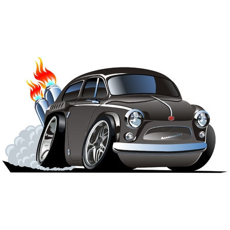 capot voiture: Vector cartoon retro Hotrod ZAZ-965 Illustration