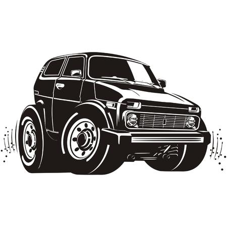 Vector cartoon off-road vehicle Vector