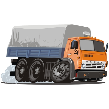 Vector cartoon delivery / cargo truck Stock Vector - 4908575