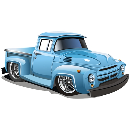 hotrod: Vector cartoon hotrod truck