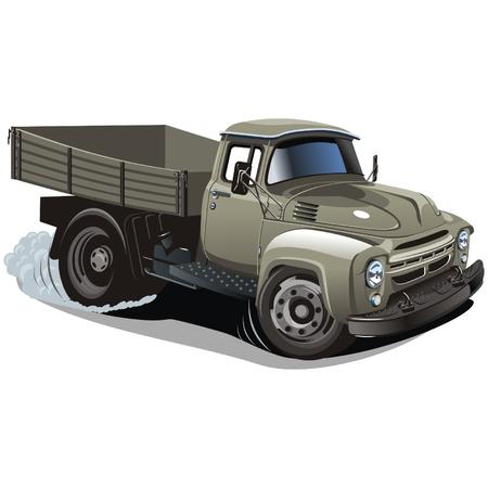 russian car: Vector cartoon delivery  cargo truck Illustration