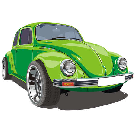 stern: Vector tuned retro car VW Bug