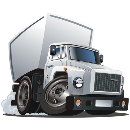 gaz: Vector cartoon delivery  cargo truck Illustration