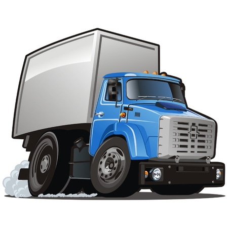 taşımak: Vector cartoon delivery  cargo truck Çizim