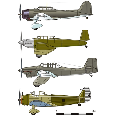 bomber: Vector dive bombers 1930-s