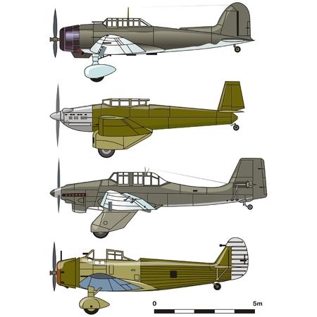 bombing: Vector duik bommenwerpers 1930-s