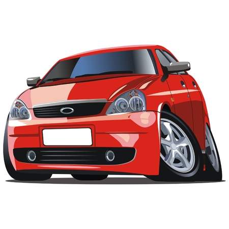 Vector modern cartoon car Vector